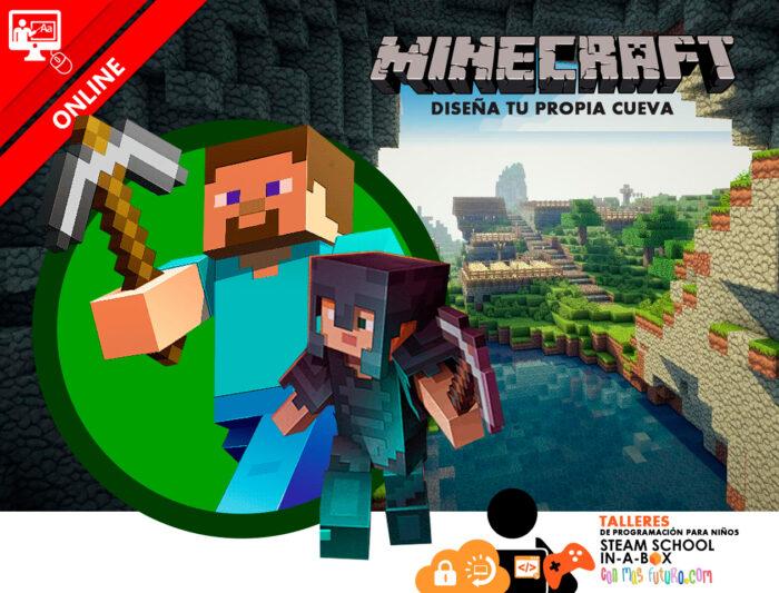 Minecraft: Diseña tu propia cueva. Taller online gratuito