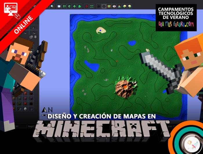Campamento de diseño y creación de mapas en Minecraft