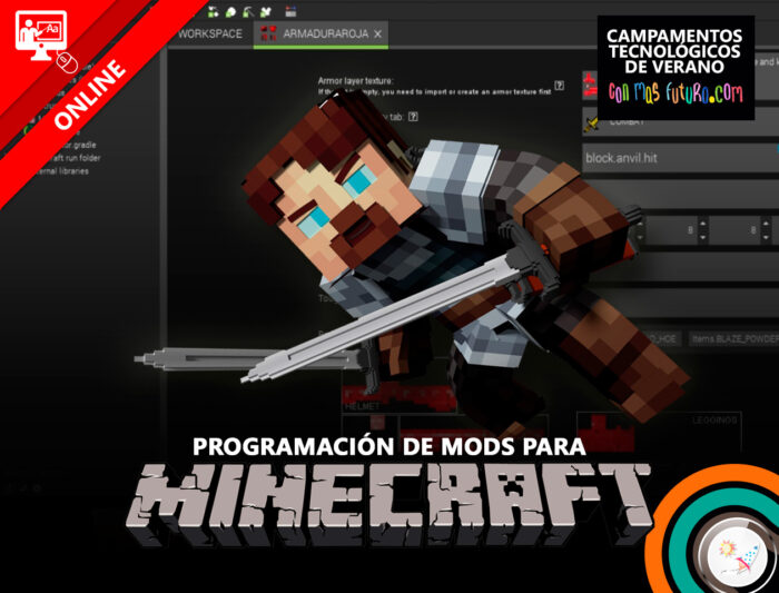 Campamento de programación de mods para Minecraft