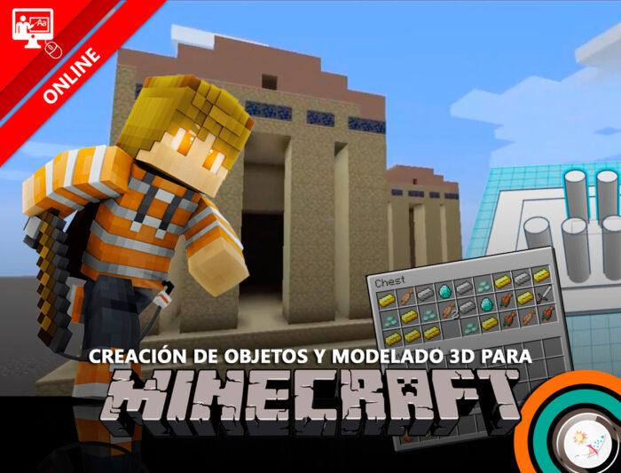 Campamento de creación de objetos y modelado 3D para Minecraft